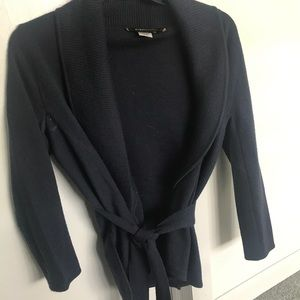 100% wool BCBG wrap sweater